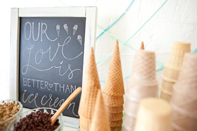 DIY Wedding Ice Cream Bar Idea