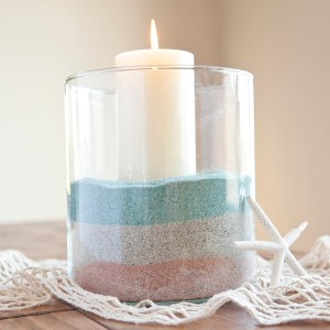 4th of July, colored layered sand for your beach house!