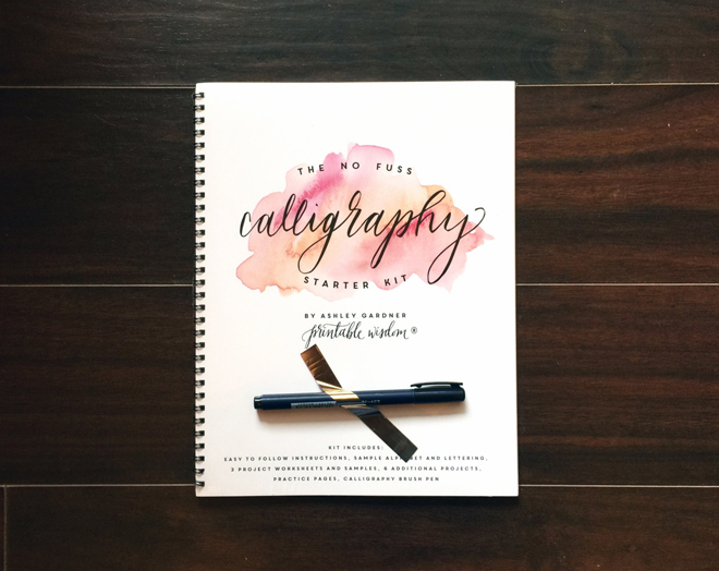 Calligraphy Starter Kit from Printable Wisdom