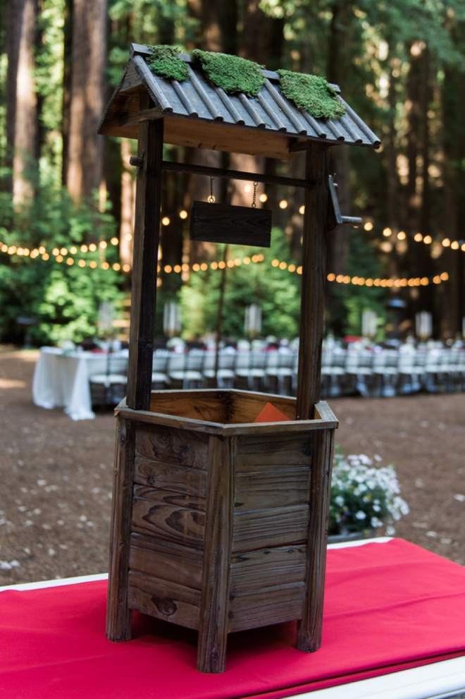 Giant wedding wishing well for cards and gifts!