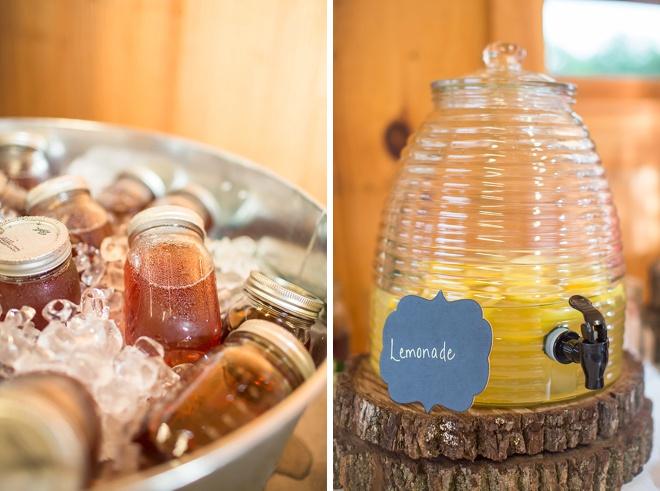 Mason jar cocktails and lemonade!