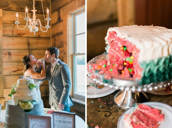 Cutting the cake!
