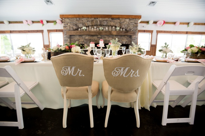 Mr & Mrs Embroidered Chairs