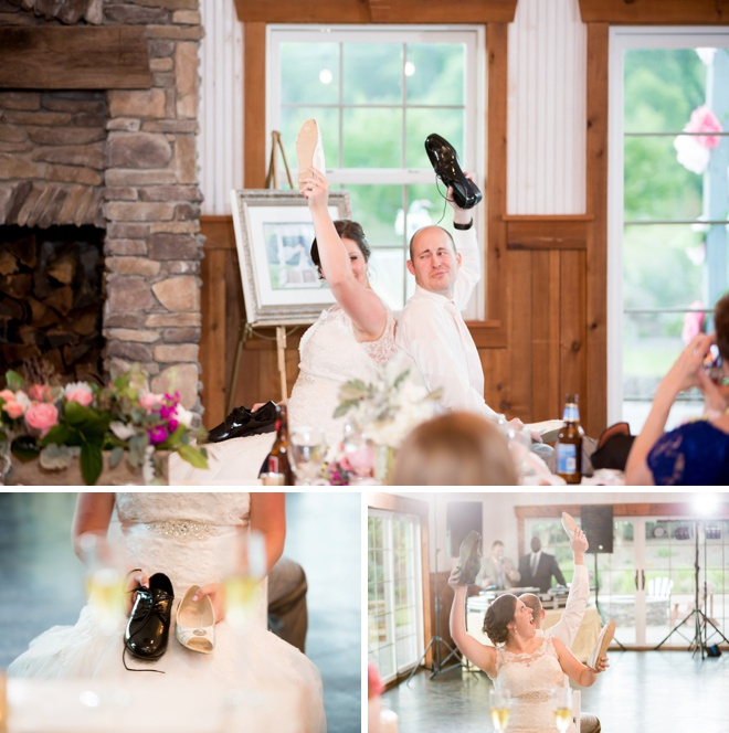 The wedding shoe game!