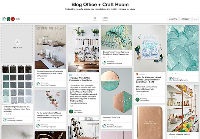 The craft room started with a board on Pinterest!