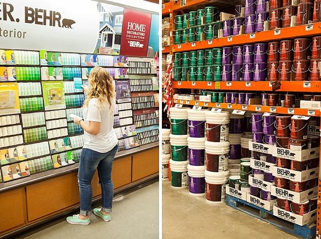 Choosing my Behr paint!