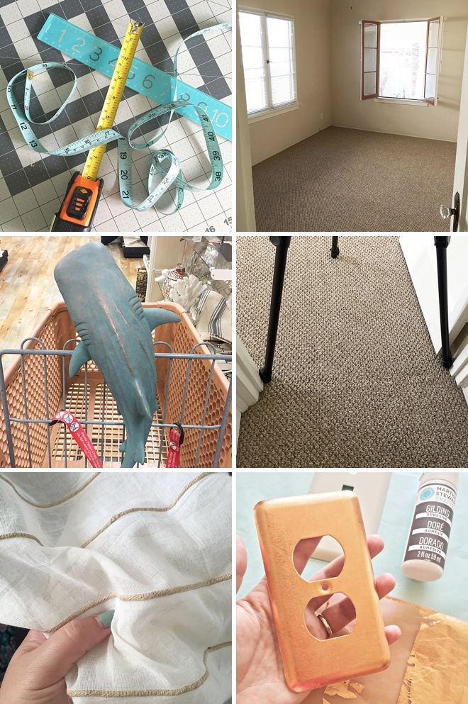 iPhone snaps of Jen planning her craft room!