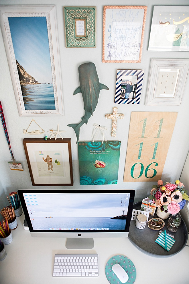 Something Turquoise Gallery Wall