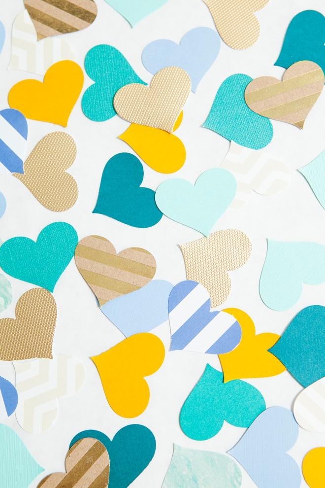 Awesome DIY idea for making heart picks for wedding aisle decor!