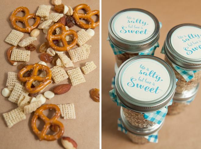 Make Your Own Mason Jar Trail Mix Wedding Favors