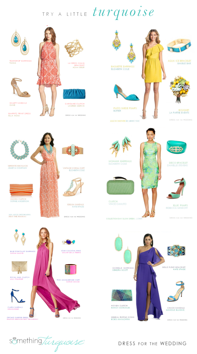 Dresses with turquoise accessories by Dress for the Wedding for Something Turquoise