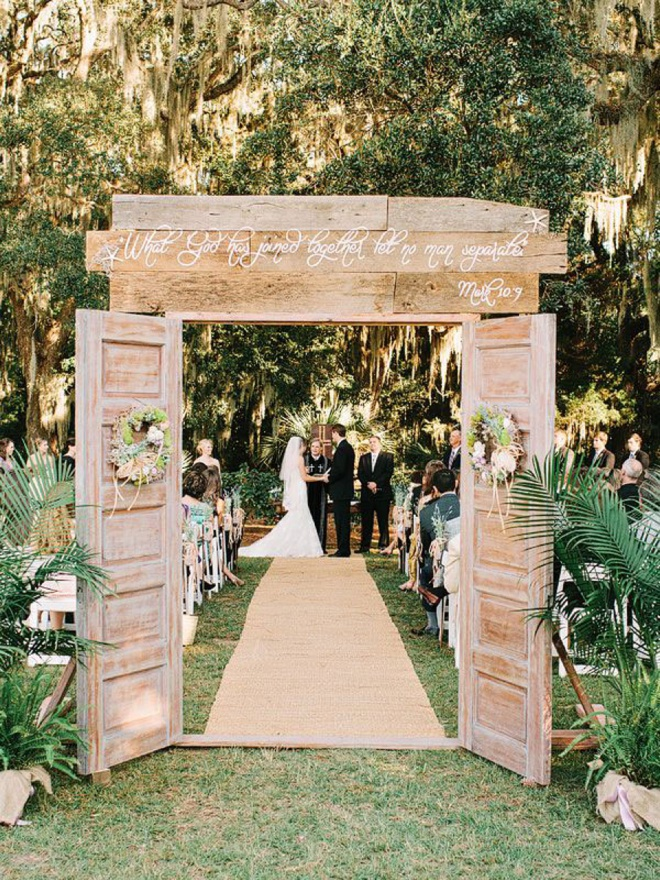 What God has joined together, let no man separate - wedding aisle sign