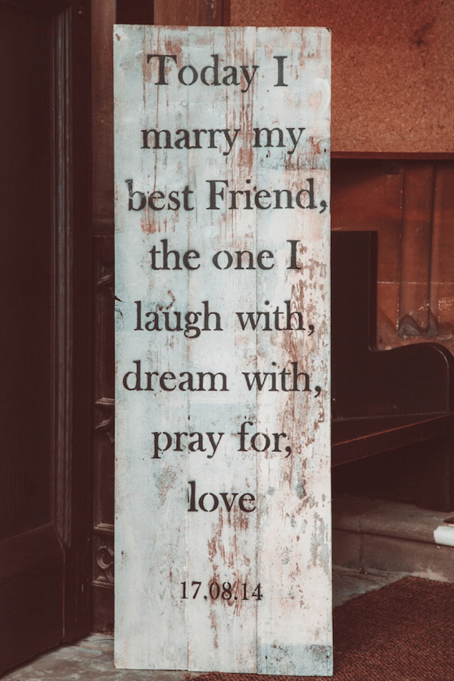 Today I marry my best friend, the one I laugh with, dream with, pray for and love.