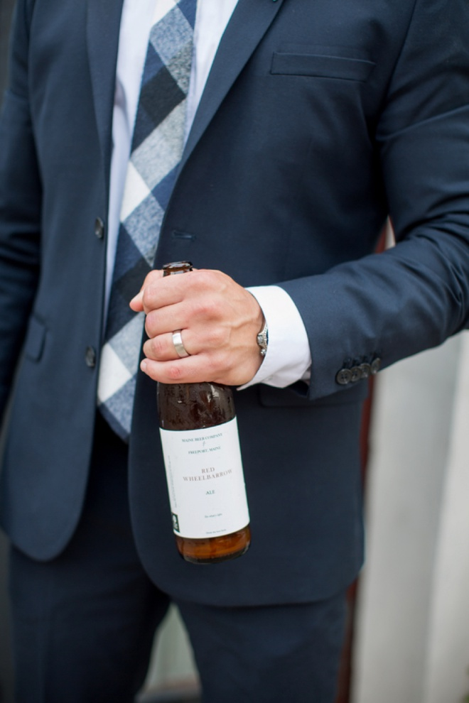 The groom brewed his own beer for the event!