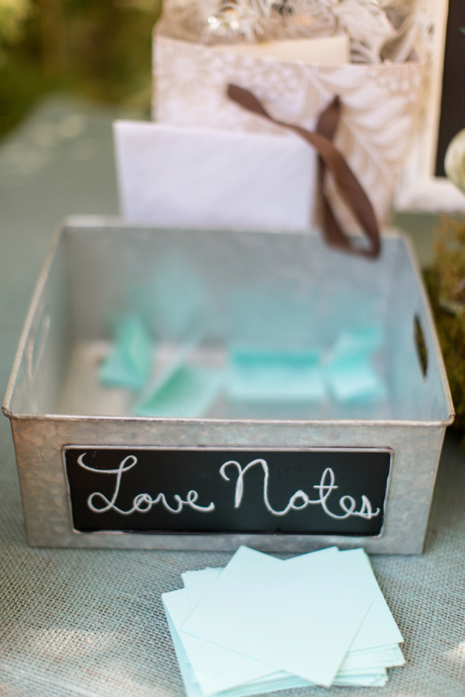 Love Notes guest book!