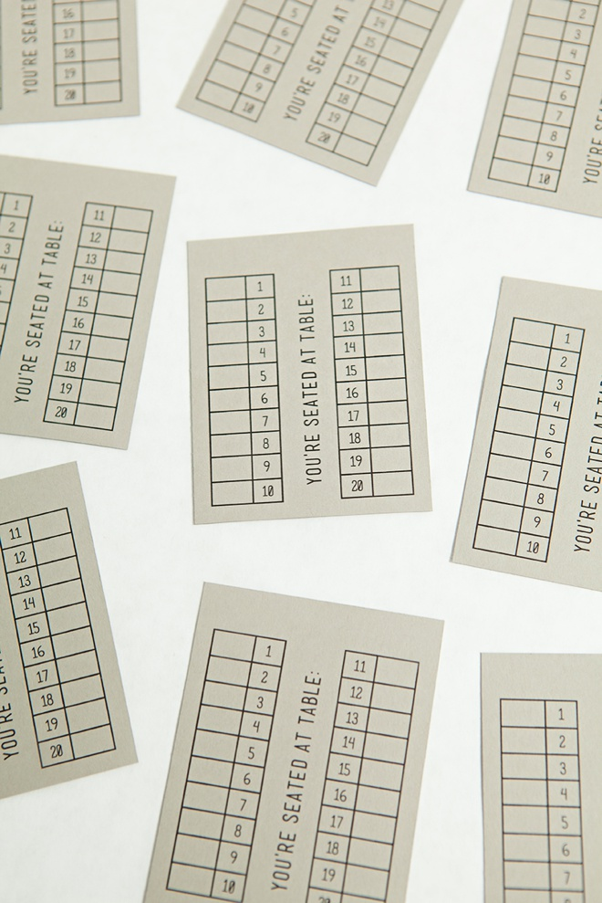 Awesome idea for DIY escort cards + FREE design printable!
