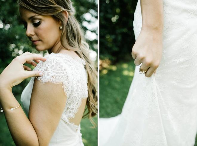 Beautiful, eco-friendly handmade backyard wedding!