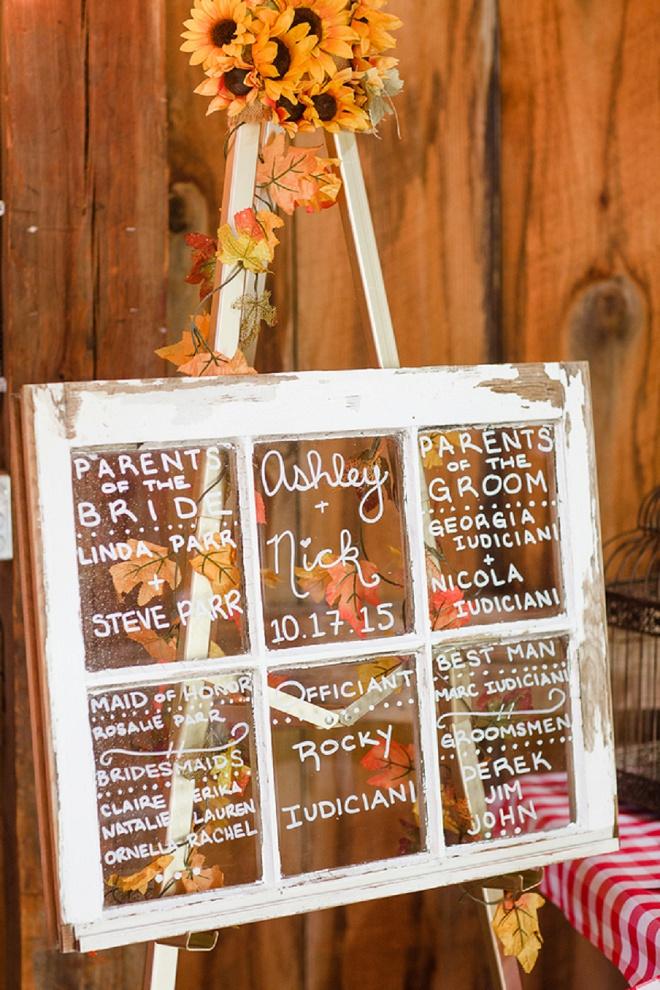 We Love This DIY Wedding Attendant Window!