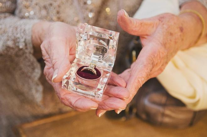 Grandma keeping the rings safe.
