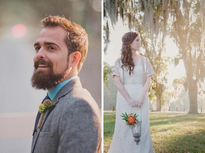 Loving this boho wedding at sunset!