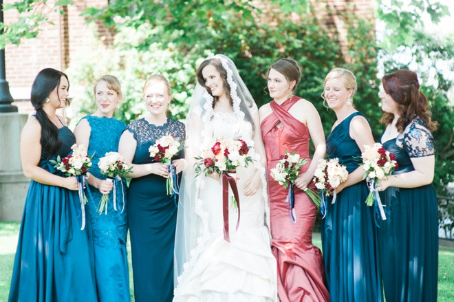 Stunning old english style wedding where the bride made her dresses!