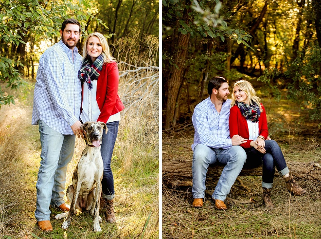We love this darling engagement session with pup!