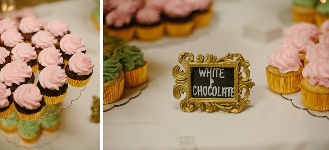 Darling cupcake dessert table!
