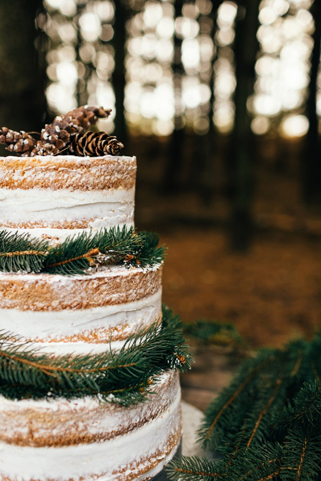 Love this darling rustic wedding cake!