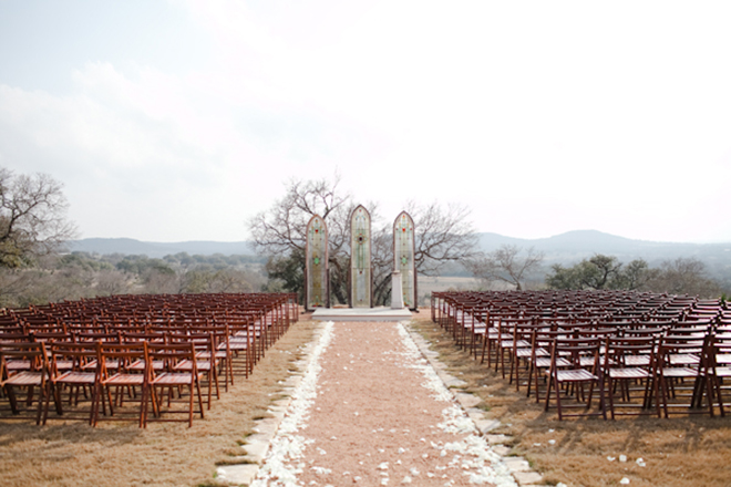 Make your outdoor wedding look like a church!