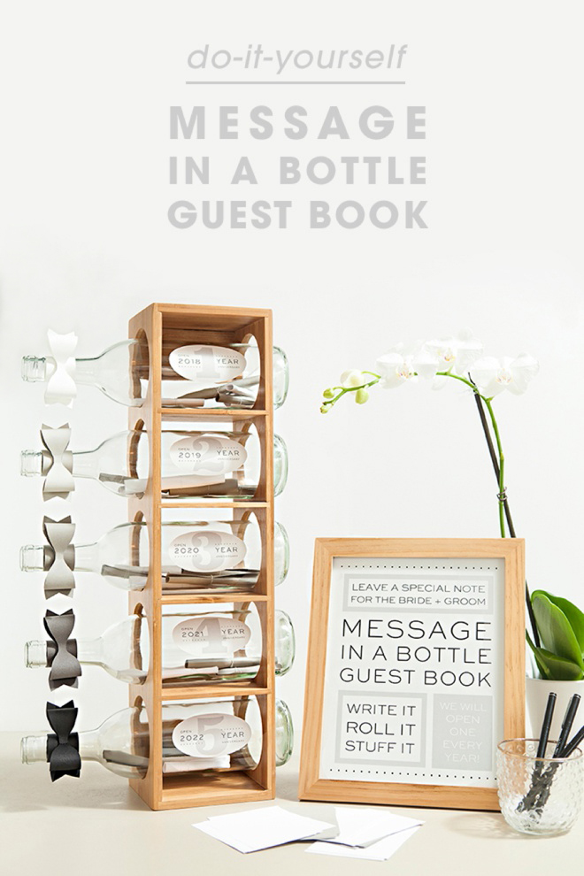 Check out this diy message in a bottle guest book awesome idea for a diy message in a bottle wedding guest book with free printables solutioingenieria Choice Image