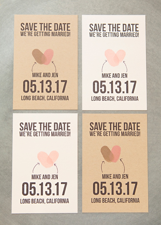 Learn how to make your own thumbprint save the date postcards, with our free printables!