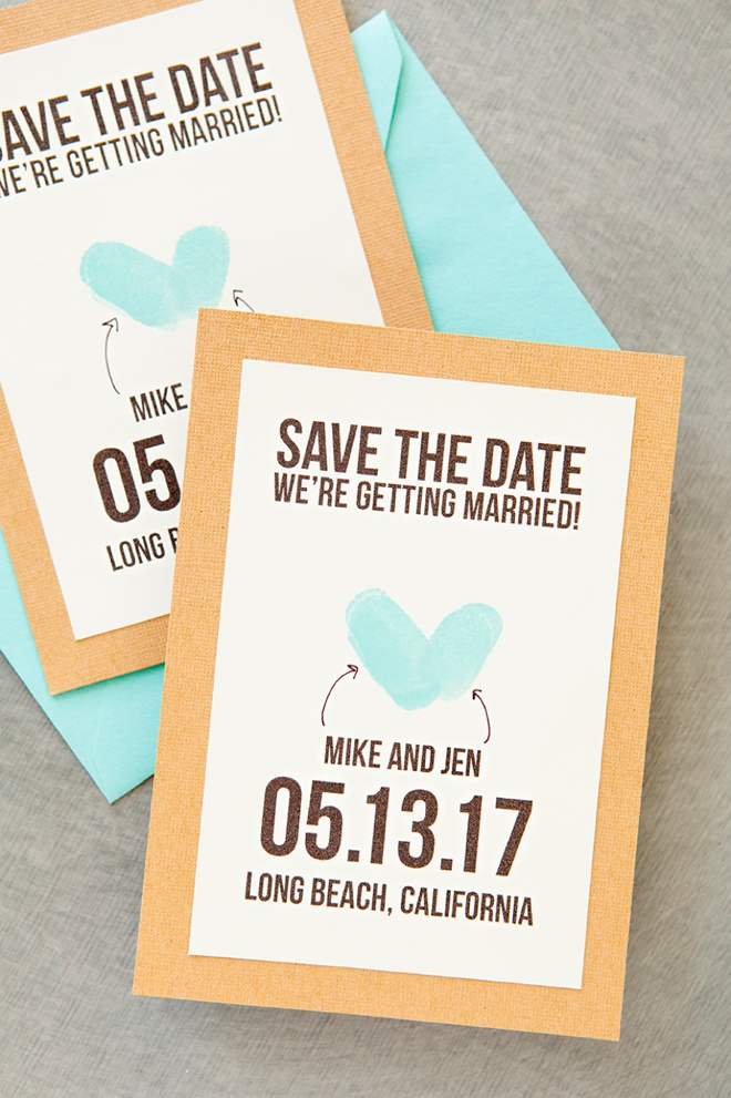 Learn how to make your own thumbprint save the dates, with our free printables!