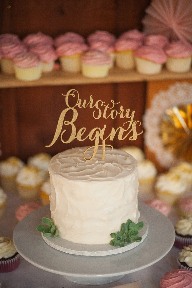 Gorgeous wedding cake and topper!