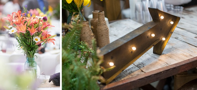 We're loving these gorgeous details at this rustic DIY wedding!