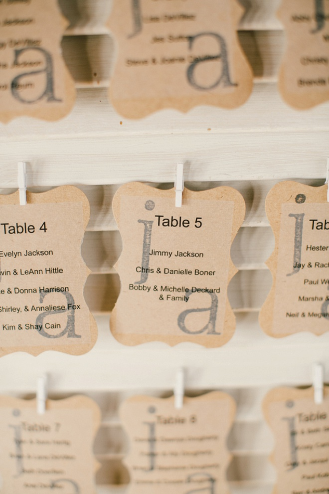How darling are these escort cards? Love!