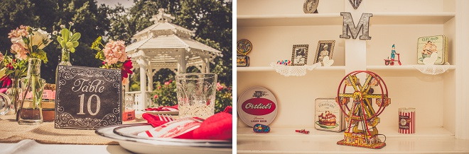 We're loving this fun, vintage carnival style wedding!