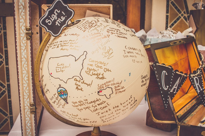 How great is this guest book globe? Perfect for this fun carnival style wedding!