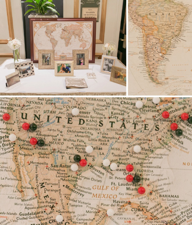 Awesome travel themed guest book idea!
