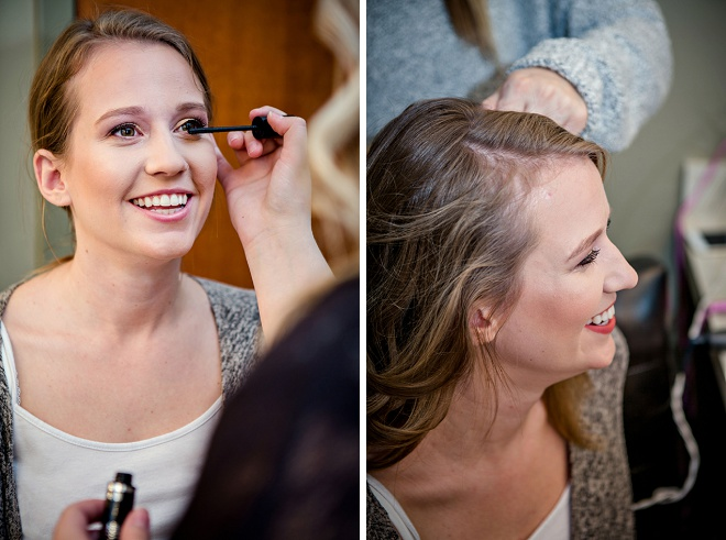 This beautiful bride getting ready for her big day!