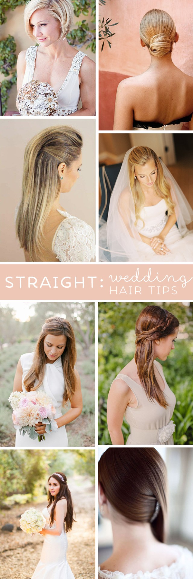 best wedding hair tips for wearing straight styles!