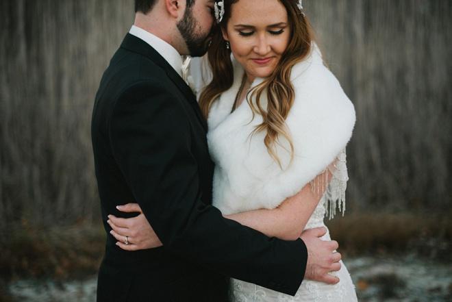 We love this darling winter DIY wedding!