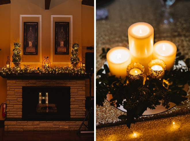 We love this winter DIY wedding!