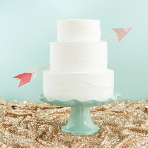 DIY your very own Cupids Arrow Cake Topper, with free patterns!