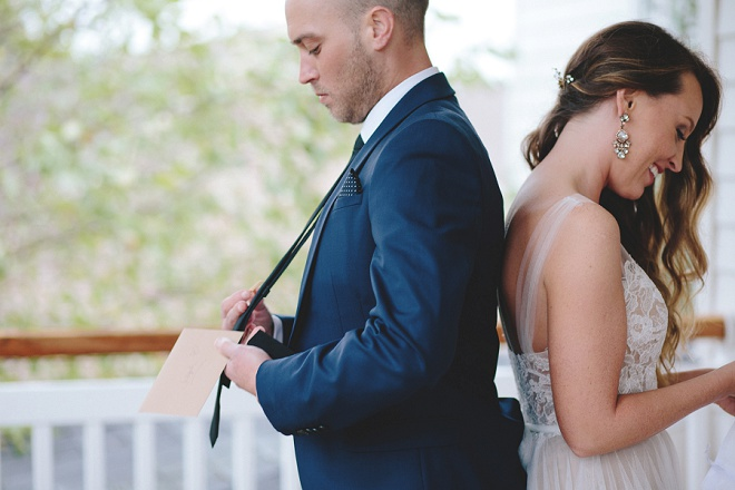 How darling is this first touch before the wedding ceremony?! LOVE!