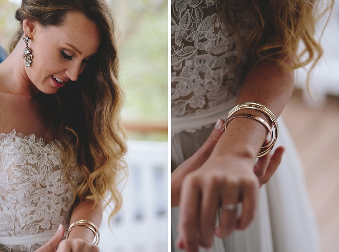 We love this Bride's first touch wedding gift