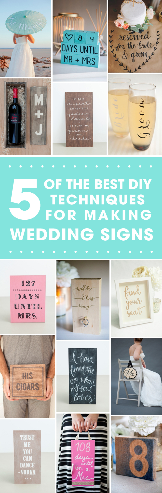 The 5 Ultimate Techniques For Making Wedding Signs!