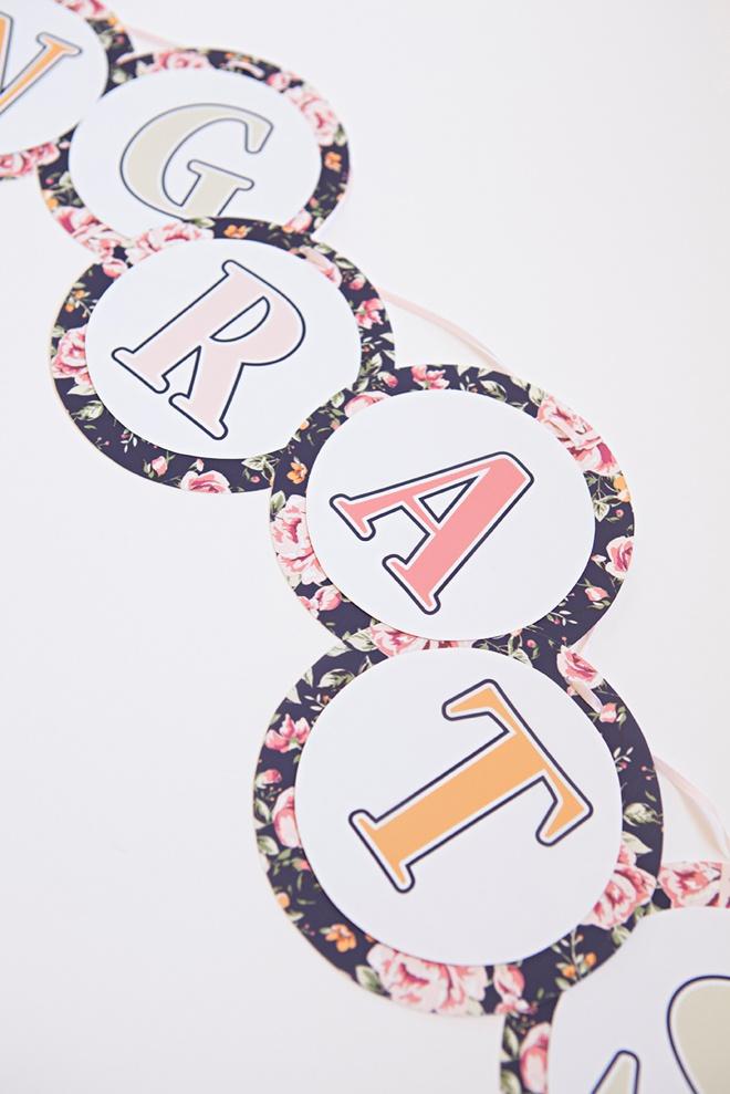 FREE Printable, Floral Design Alphabet and Number Banner!