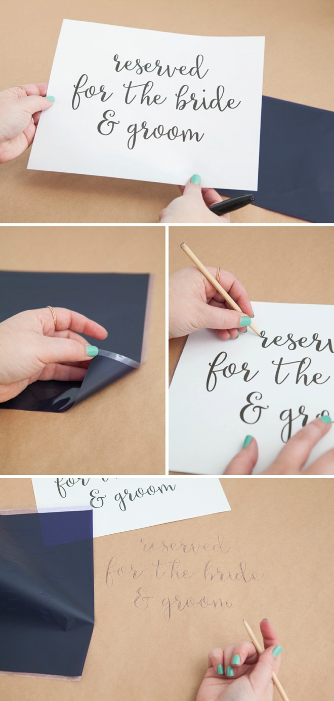 How to use transfer paper for perfect hand lettering!
