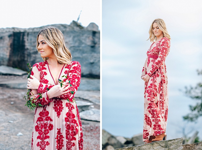 How gorgeous is this bride-to-be?!