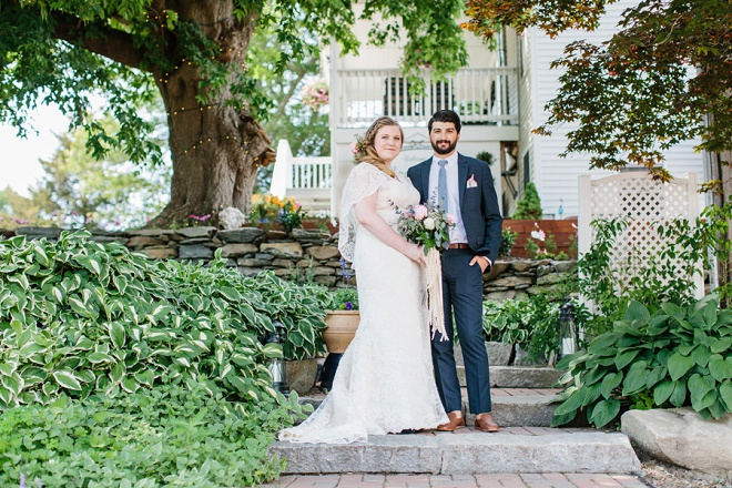 We're swooning over this Bride and Groom and their vintage boho outdoor wedding!